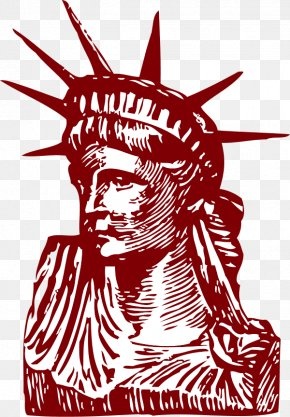 Statue Of Liberty Art - Statue Of Liberty Drawing Clip Art PNG