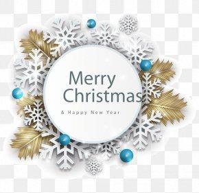 Christmas Elements - Santa Claus Christmas And Holiday Season Greeting Card Snowflake PNG