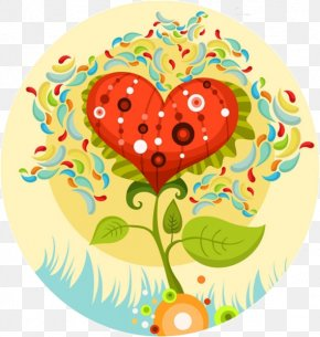 Cartoon Love Tree - Wedding Invitation Valentines Day Heart Greeting Card PNG