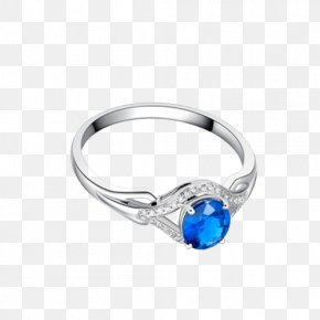 Ba Fana Sapphire And Diamond Ring - Sapphire Ring Diamond Colored Gold PNG