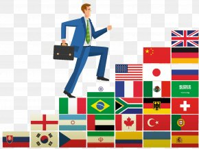 Business People Illustrations - United States National Flag Flag Of Portugal Flags Of South America PNG