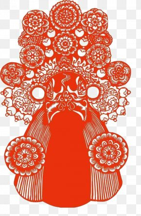 Chinese Traditional Art Of Peking Opera Style Paper-cut Material - Peking Opera Papercutting Art Chinese Paper Cutting PNG