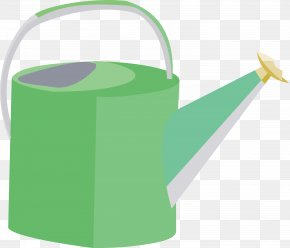 Kettle Vector Material - Material Green Watering Can PNG