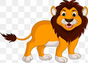 Cartoon Lion - Stock Illustration Cartoon Illustration PNG
