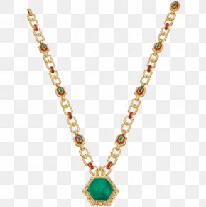 Emerald Necklace - Earring Pendant Necklace Jewellery Chain PNG