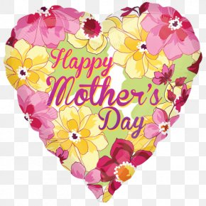 Happy Mothers Day - Balloon Mother's Day Flower Party PNG