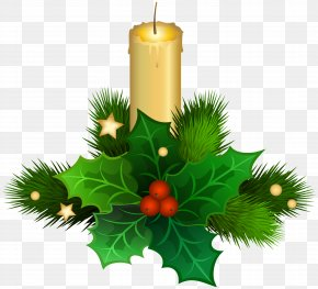 Candles - Christmas Decoration Candle Christmas Ornament Clip Art PNG