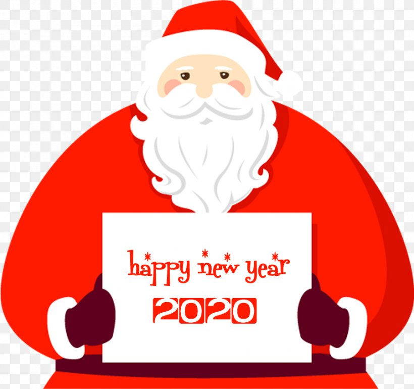 Happy New Year 2020 Santa, PNG, 900x846px, 2020, Happy New Year, Christmas Eve, Fictional Character, Santa Download Free
