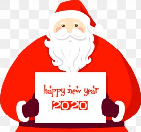 Christmas Eve Fictional Character - Happy New Year 2020 Santa PNG