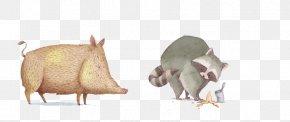 Poor Raccoon Hand-painted Wild Boar - Wild Boar Cartoon Illustration PNG