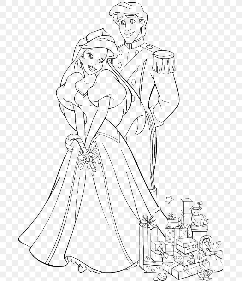 Ariel Wedding Coloring Books The Prince Wedding Coloring Book