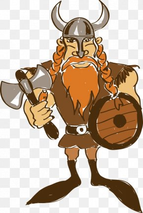 Hand-painted Cartoon Vikings - Viking Cartoon Drawing Illustration PNG