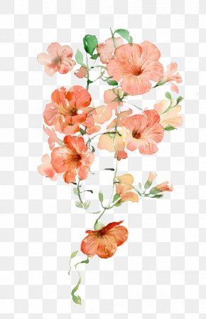 Watercolor Flowers - Flower Pink Icon PNG