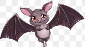 Bat Vector - Bat Cartoon Stock Illustration Illustration PNG