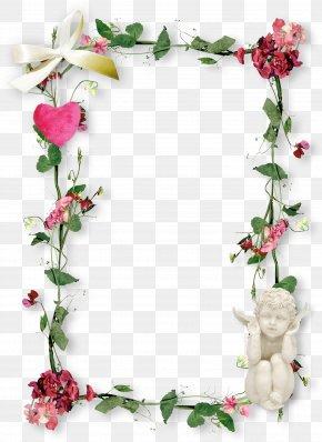 Flower Fram - Flower Bouquet Picture Frames Floral Design Clip Art PNG