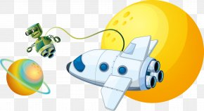 Vector Astronaut And Space Shuttle - Outer Space Astronaut Space Shuttle Space Exploration Clip Art PNG