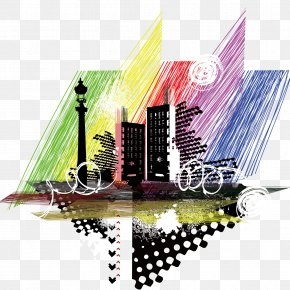 Trendy City Silhouette Vector - City Silhouette Illustration PNG