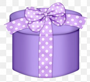 Purple Round Gift Box Clipart - Christmas Gift Pink Clip Art PNG