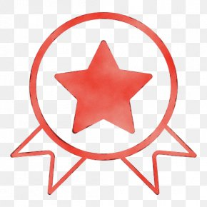 Sticker Logo - Red Star Symbol Logo Sticker PNG