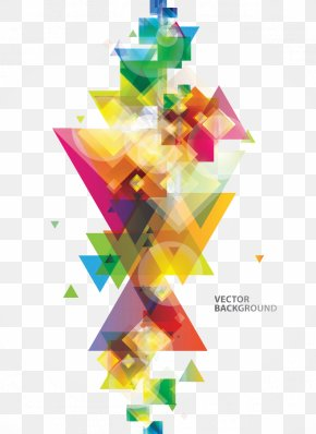 Colorful Triangle Pattern - Colorful Squares Triangle Clip Art PNG