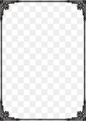 Flat Black Frame - Grunge Clip Art PNG