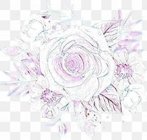 Drawing Rose Order - Bouquet Of Flowers Drawing PNG