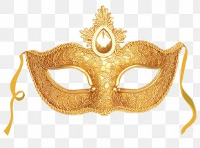 New Year Sale - Masquerade Ball Mask Gold Clip Art PNG