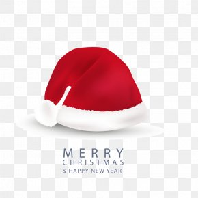 Red Christmas Hats Greeting Card Vector Material - Greeting Card Christmas Card Computer File PNG