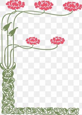Flower Border - Flower Floral Design Art Clip Art PNG