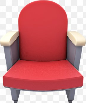 Plastic Comfort - Furniture Chair Red Material Property Club Chair PNG