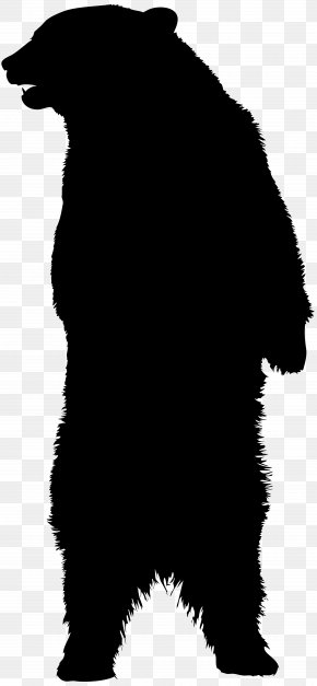 Bear Silhouette Clip Art Image - American Black Bear Brown Bear Silhouette PNG