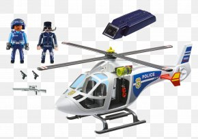 Helicopter - Helicopter Playmobil Police Aviation Toy Light PNG