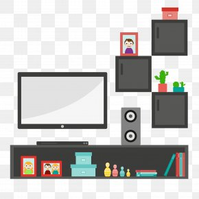 Living Room Scene - Vector Graphics Television Living Room Interior Design Services Image PNG