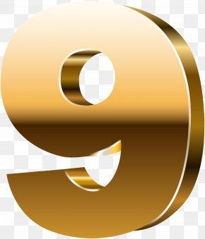 Number Nine 3D Gold Clip Art Image - Number 3D Computer Graphics Clip Art PNG