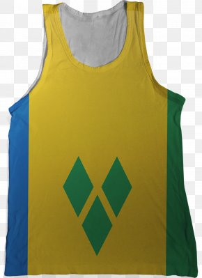 St Vincent - Flag Of Saint Vincent And The Grenadines Flag Of Saint Vincent And The Grenadines T-shirt Island Country PNG