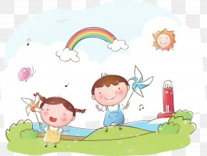 Vector Child Pictures - Summer Poster Child PNG