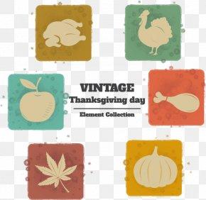 Vintage Thanksgiving Flat Element - Turkey Thanksgiving Gratis PNG