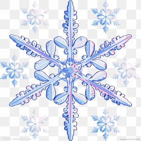 Blue Snowflake Pattern - Snowflake Transparency And Translucency Stock Photography Clip Art PNG