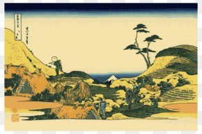 1849)Mt Fuji - The Great Wave Off Kanagawa Thirty-six Views Of Mount Fuji Fine Wind, Clear Morning Hokusai: (1760 PNG