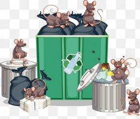Rats Next To The Garbage Can - Brown Rat Waste Container Stock Photography Illustration PNG