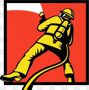 Hand Painted Firefighter Signs - Firefighter Firefighting Fire Hose PNG