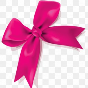 Pink Bow - Pink Ribbon Icon PNG