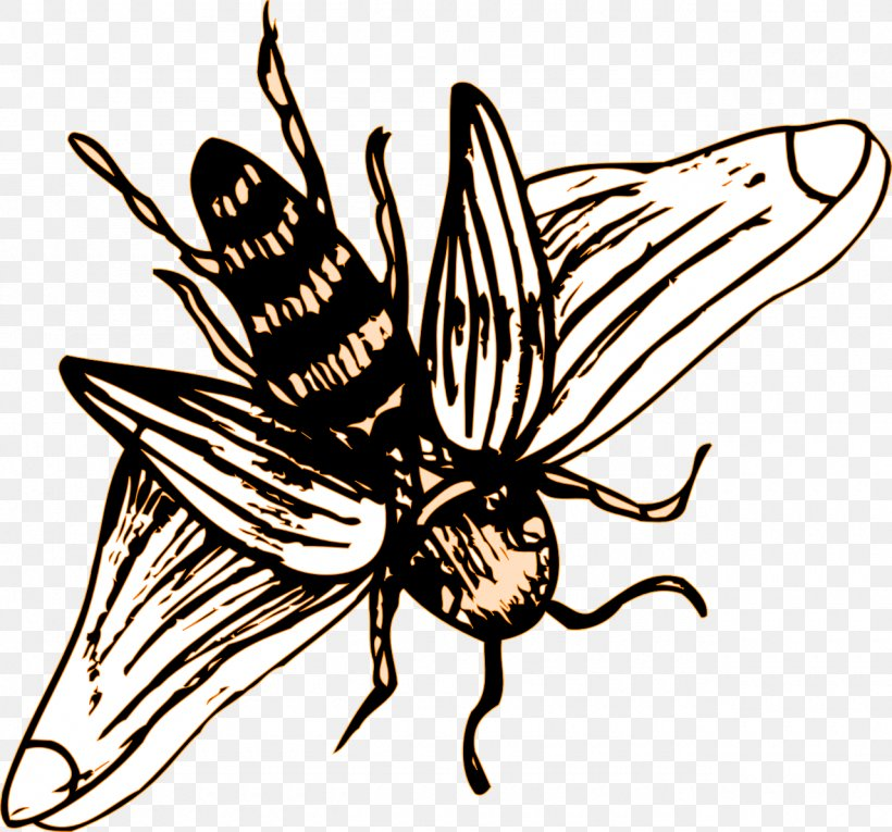 Insect Western Honey Bee Clip Art, PNG, 1280x1195px, Insect, Arthropod, Artwork, Bee, Black And White Download Free