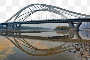 Deep Yellow River Bridge In Lanzhou - Lanzhou Yellow River Yangtze Arch Bridge PNG