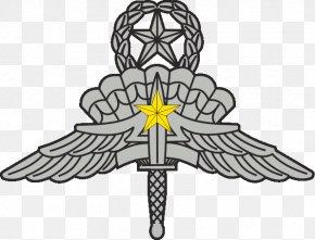 Military - Military Freefall Parachutist Badge United States Army High-altitude Military Parachuting Combat Infantryman Badge PNG