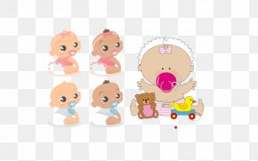 Cartoon Baby Element - Infant Download Clip Art PNG