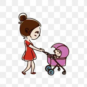Parent-child Movement Mother Cart Picture Material - Mother Clip Art PNG