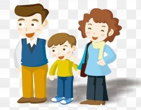 Cartoon Family - Cartoon Animation Comics Illustration PNG