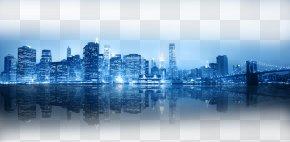 Hong Kong Night Bright Lights - New York City Skyline Wallpaper PNG