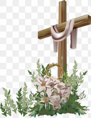 Easter Cross - Calvary Bible Easter Christian Cross Clip Art PNG